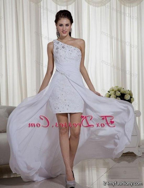 prom dresses high low white 20162017 187 b2b fashion