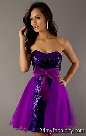 Purple And Black Homecoming Dress Looks B2b Fashion