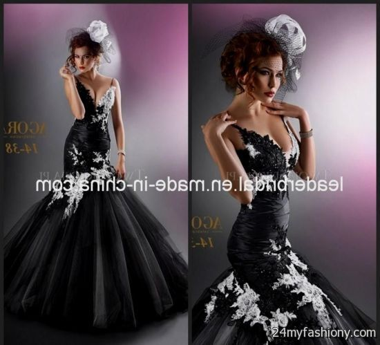 purple and black mermaid wedding dress 20162017 b2b fashion