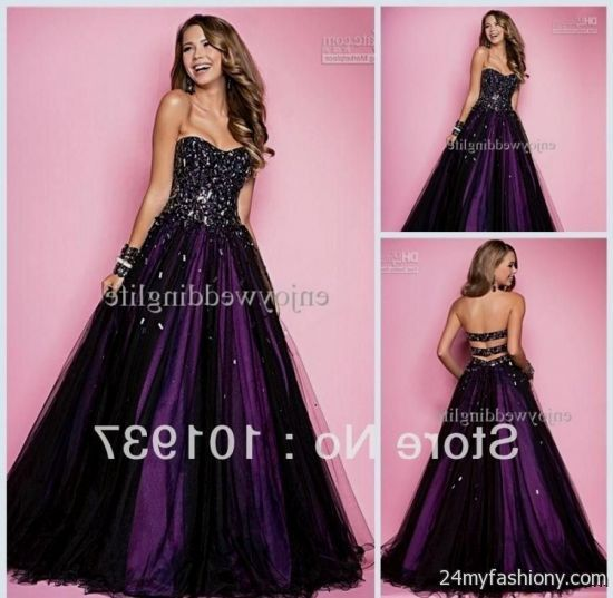 Pictures Of Purple And Black Prom Dresses 2017 Kidskunstinfo
