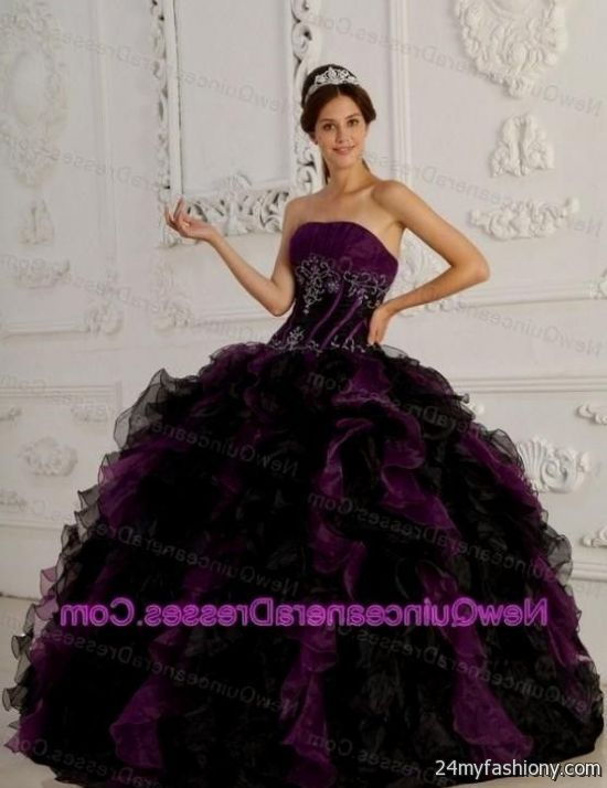 Purple And Black Wedding Dress 2016 2017 B2b Fashion