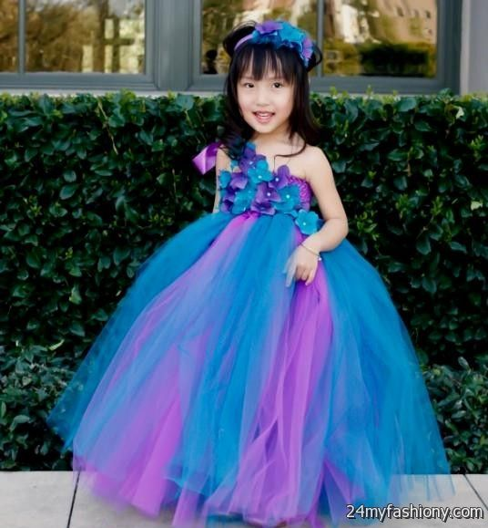 3196d87f84d You can share these purple and blue flower girl dresses on Facebook