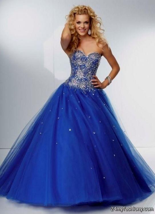 Images of Blue Long Prom Dresses - Reikian