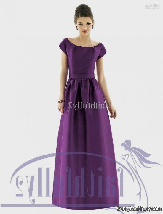 purple bridesmaid dresses with sleeves 20162017 b2b fashion