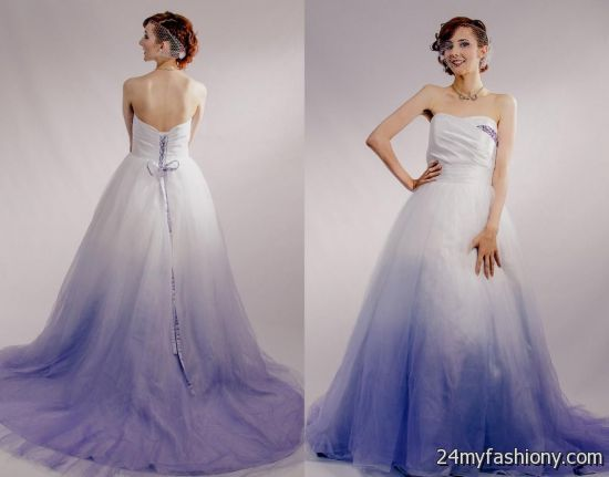 Purple ombre wedding dress images for Purple ombre wedding dress