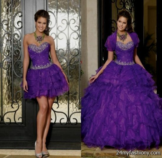 purple quinceanera dresses with detachable skirt 2016-2017 » B2B ...