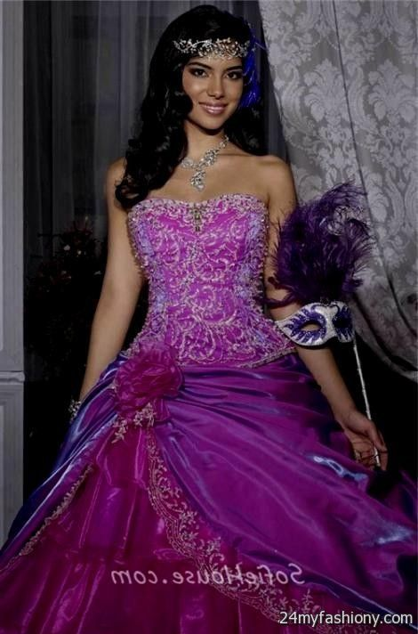 Fashion style Quinceanera Purple dresses with detachable skirt for woman
