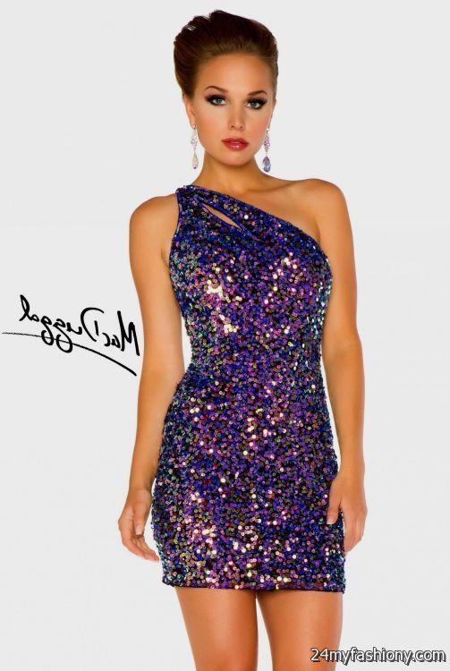 purple sequin cocktail dress 2016-2017 | B2B Fashion