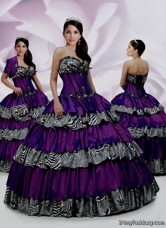 Purple zebra quinceanera dresses 2013