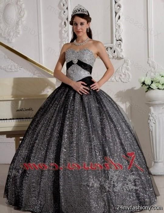 2fa488d5ca You can share these quinceanera dresses black and silver on Facebook