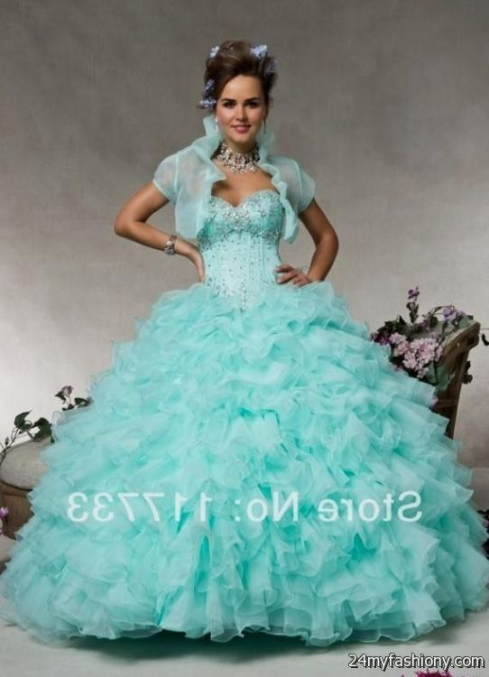 Quinceanera Dresses Mint Green With Purple - Missy Dress