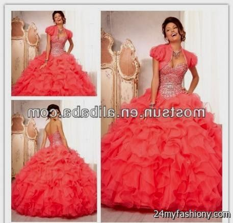 d4cf80af03e You can share these quinceanera dresses neon coral on Facebook