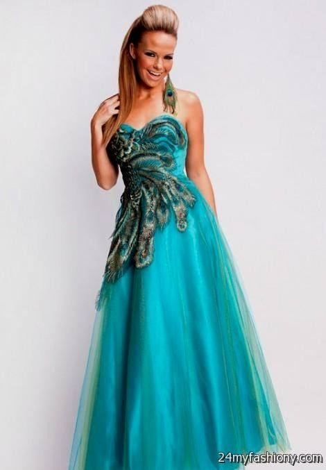 Quinceanera Dresses Peacock Color Looks B2b Fashion