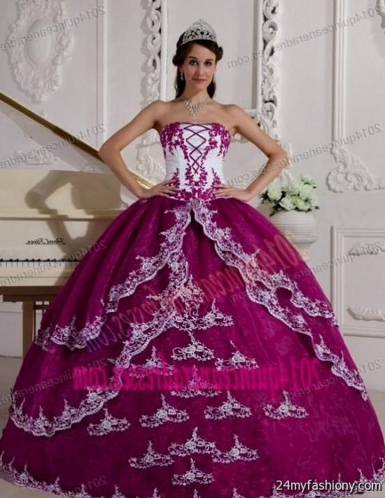 quinceanera dresses purple and white 20162017 b2b fashion