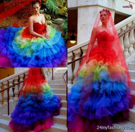 Wedding rainbow dress for sale photos