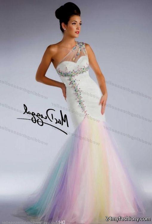 rainbow wedding dress for sale 2016-2017 » B2B Fashion