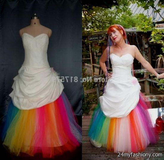 Rainbow wedding dress for sale 2016 2017 b2b fashion you will be the queen of the ball in one of these elegant and poised prom dresses you can share these rainbow wedding junglespirit Gallery