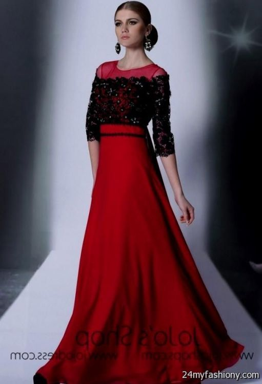 Colorful Red Black Gown Crest - Ball Gown Wedding Dresses - wietpas.info