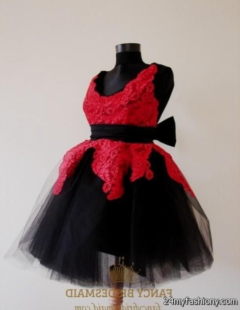 red and black lace flower girl dresses 2016-2017 | B2B Fashion