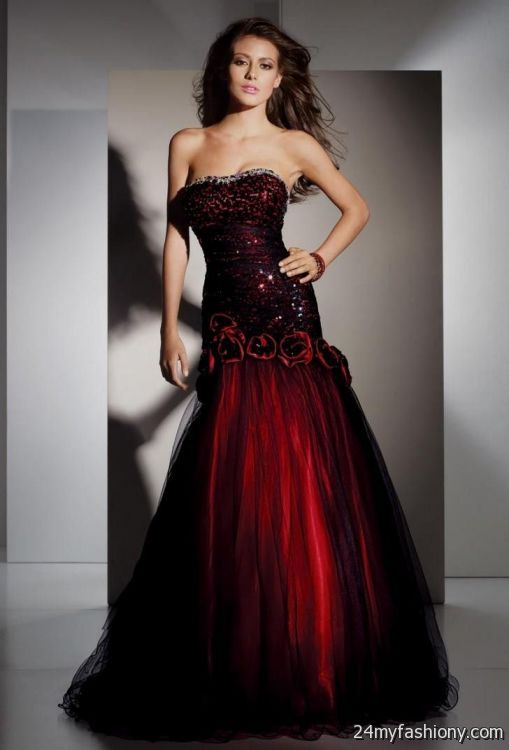 red and black lace prom dresses 20162017 b2b fashion