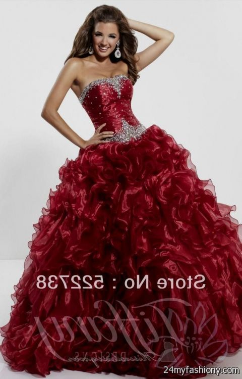 red and black masquerade ball gowns 2016-2017 | B2B Fashion