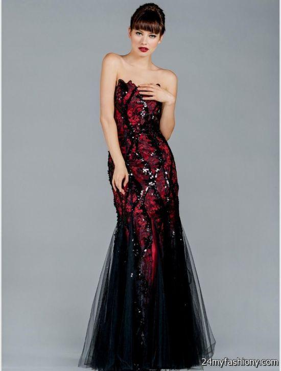 red and black mermaid ...