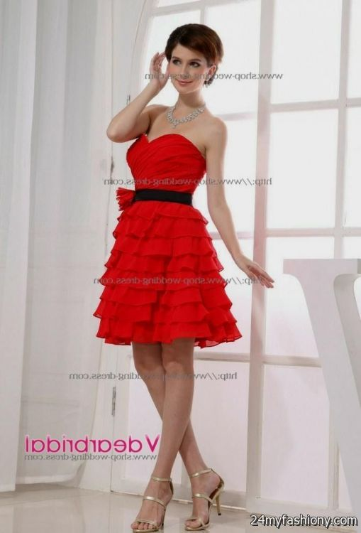 Red and silver bridesmaid dresses 2016 2017 b2b fashion for Silver and red wedding dresses
