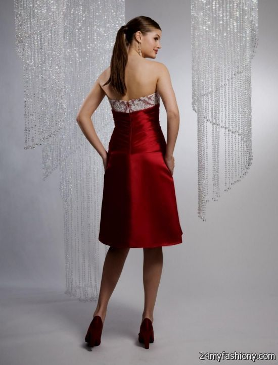 bridesmaid dresses in red and silver bridesmaid dresses