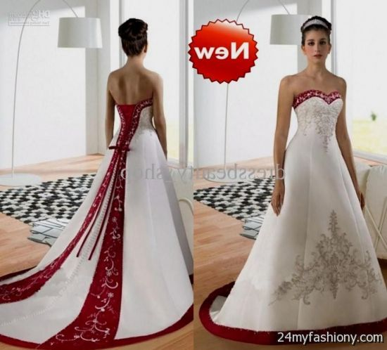 Red And Silver Wedding Dresses Looks