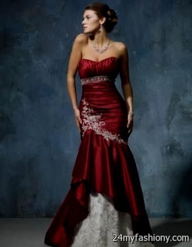 red and silver wedding dresses 2016 2017 b2b fashion