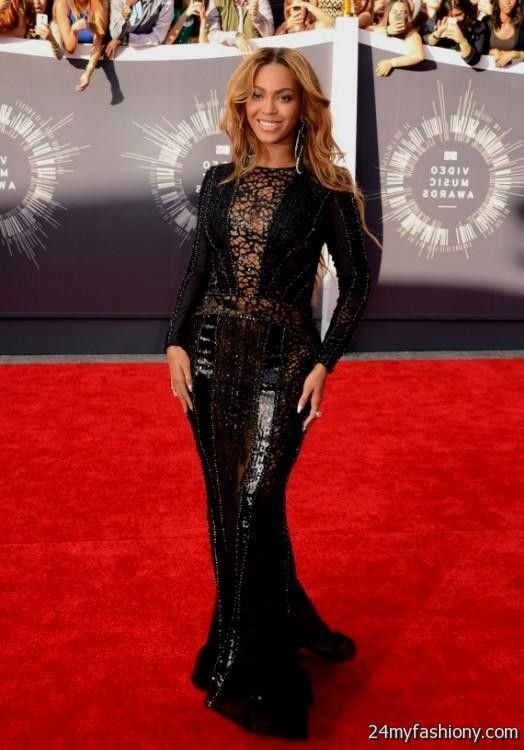 Beyonce red carpet dress 2014