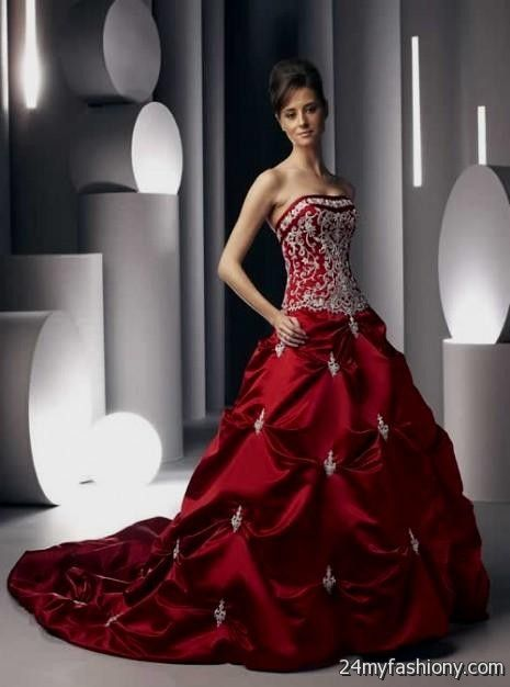 You Can Share These Red Colored Wedding Dresses On Facebook Stumble Upon My E Linked In Google Plus Twitter And All Social Networking Sites