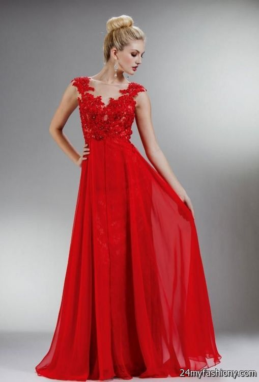 red flowy prom dresses 20162017 b2b fashion