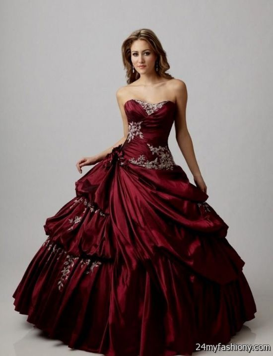 11f0b837f9 You can share these red masquerade ball gowns on Facebook