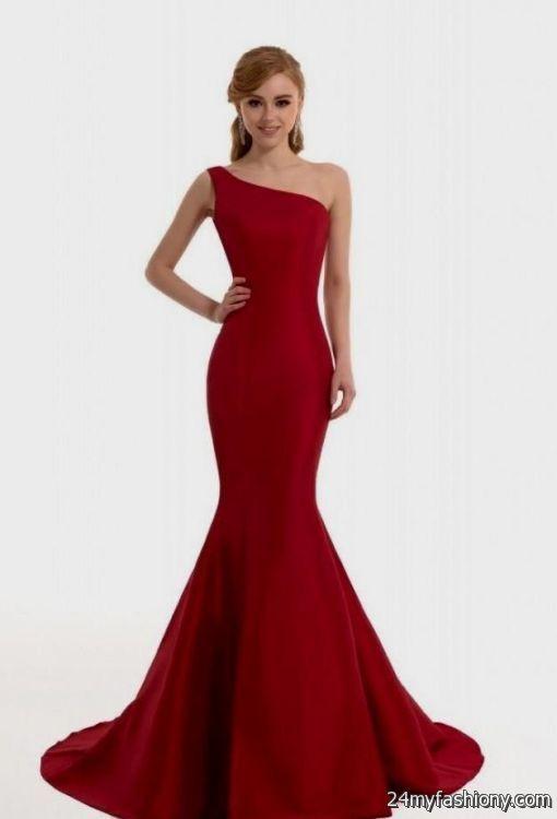 red mermaid prom dress with sleeves 2016-2017 » B2B Fashion
