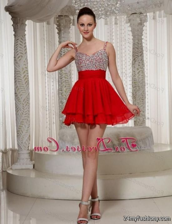 red short prom dresses with straps 2016-2017 | B2B Fashion
