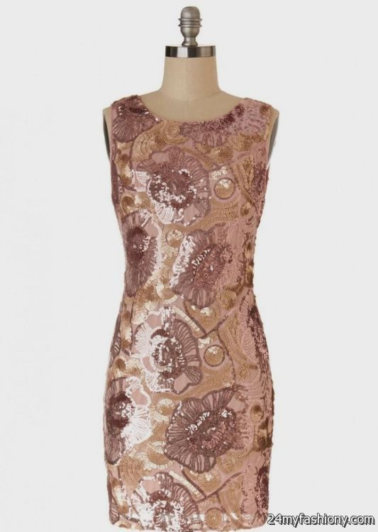 Rose gold sequin dress outfit