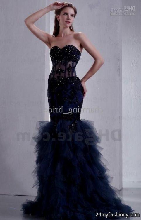 royal blue and black prom dresses 20162017 b2b fashion