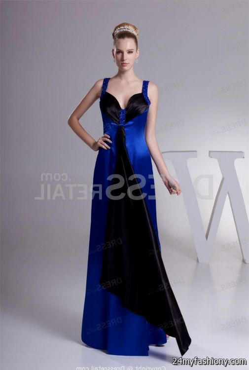 Royal blue and black wedding dresses 2016 2017 b2b fashion for Blue and black wedding dresses