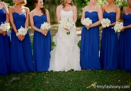royal blue and white bridesmaid dresses 20162017 b2b