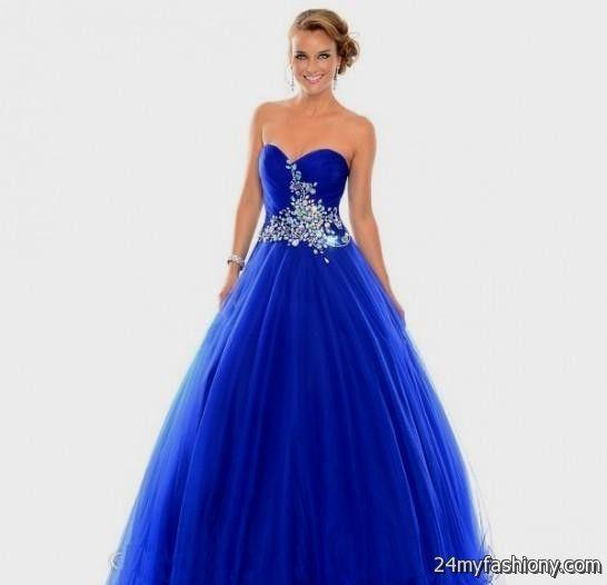 Royal Blue Ball Gown Prom Dresses Looks B2b Fashion