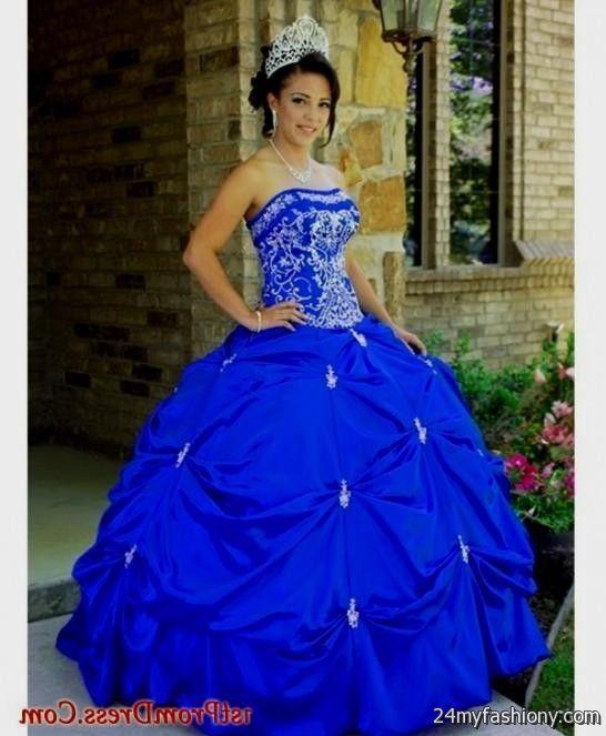 430bb2d1 royal blue ball gown prom dresses looks | B2B Fashion