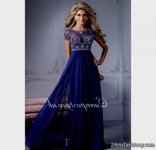 royal blue gown with sleeves 2016-2017 | B2B Fashion