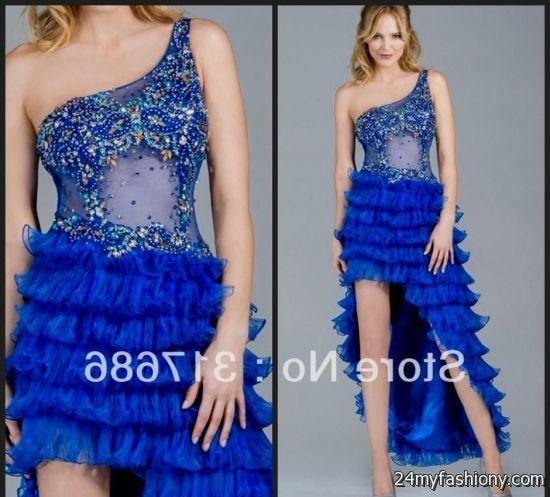 royal blue high low prom dresses 20162017 b2b fashion