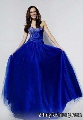 Royal Blue Princess Prom Dresses