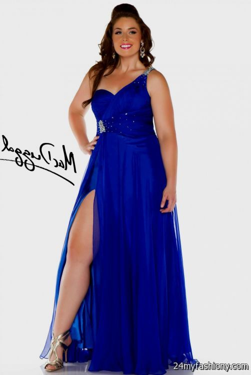Royal Blue Prom Dress One Shoulder - Missy Dress
