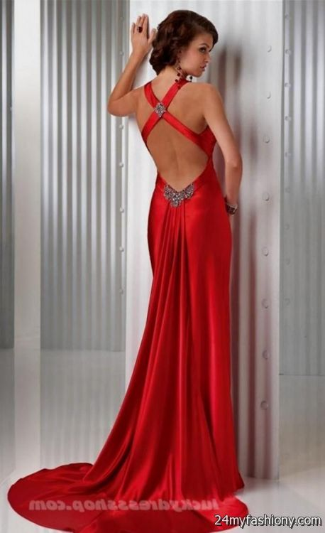 sexy red backless prom dress 2016-2017 » B2B Fashion