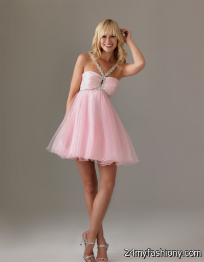 short pink prom dresses with straps 2016-2017 » B2B Fashion