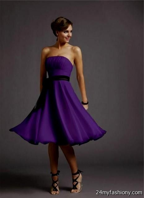 short purple dresses for weddings 2016-2017 | B2B Fashion