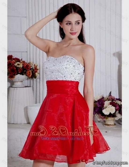 White And Red Prom Dresses 53